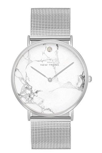 New Trend - Love for Accessories Damen Uhr analog Quarzwerk mit Edelstahl-Armband Y1-6PJ9-EO6N