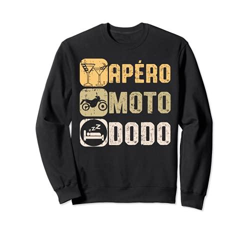 Apéro Moto Dodo Humour Bière Motard Homme Femme Cadeau Sweatshirt