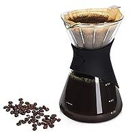 navaris caffettiera 700ml per caffe filtrato caldo - caraffa in vetro borosilicato con filtro in acciaio inox - recipiente con drip coffee maker
