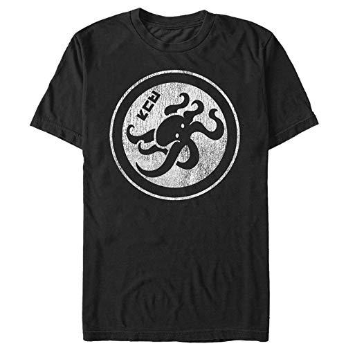 Nintendo Men's Splatoon Octopus Symbol Black T-Shirt