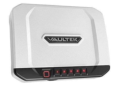 VAULTEK VT20i Biometric Handgun Safe Bluetooth Smart Pistol Safe with Auto-Open Lid and Rechargeable...