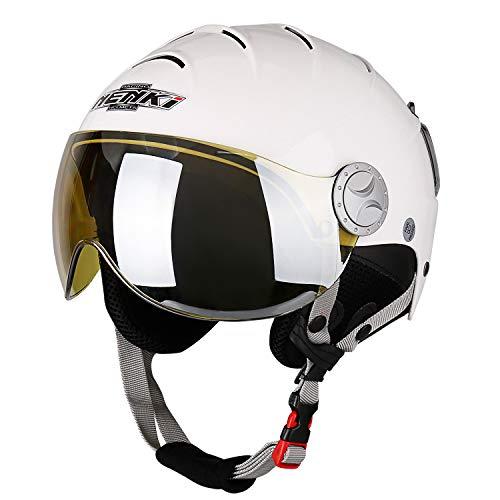 NENKI Casco de esquí con visera para deportes de nieve, esquí, snowboard, para hombres y mujeres