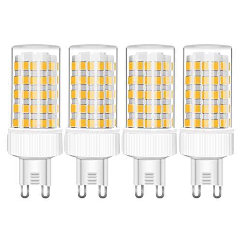 G9 10W LED Lampe, 10W Ersetzt 80W Halogenlampen, 800 Lumens, Warmweiß 3000K, AC 220-240V, 360° Abstrahlwinkel, Nicht Dimmbar, G9 LED Leuchtmittel, 4er Pack - RANBOO