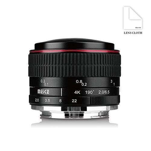 Meike MK 6,5 mm f/2.0 Kreisförmige Objektiv Fisheye für Sony E-Mount Kameras NEX 5 A6000 A6300 A6400 A6500