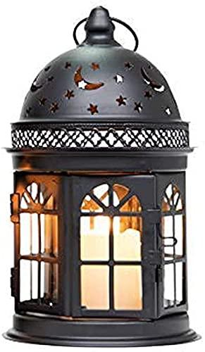 EPYFFJH Portacandele Candela Lanterne di candela alto decorativo pendio di candela in metallo appendiabiti in metallo rotondo Balcone accessorio per tavolino percorso percorso indoor giardino giardino