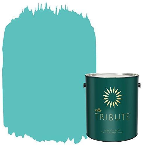 KILZ TRIBUTE Interior Matte Paint and Primer in One, 1 Gallon, Tropical Escape (TB-56)