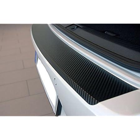 Unbekannt Ladekantenschutz Carbon Style Folie Schwarz Auto