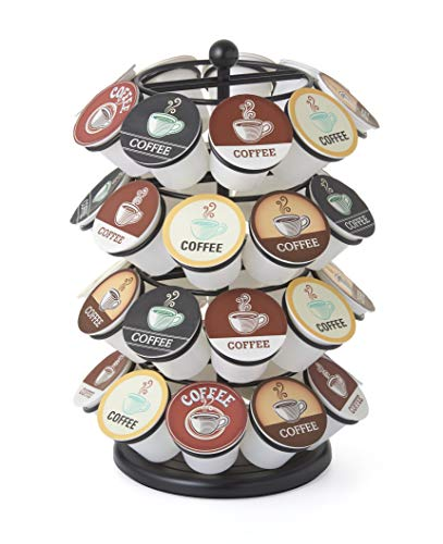 NIFTY 5636B Storage Carousel. Coffee Pod Stores up to 36 Packs K-Cup Holder, Capacity, Black