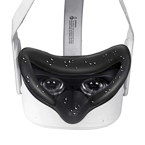 VR Facial Interfaz Soporte Y Cuero Sintético Espuma Cara Almohadilla Cove R Repuesto Para Oculus-Quest 2 Accesorios Anti-leakage Nariz Almohadilla Y Protector Lente Comodidad 5 IN 1 Set Accesorios