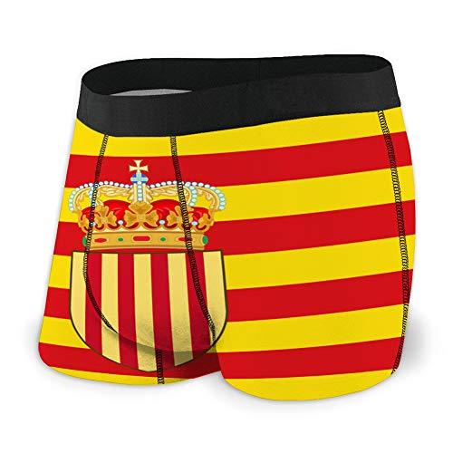 fgdhfgjhdgf Ropa Interior Suave para Hombres Teen Boys Bandera de catalua de espaa S