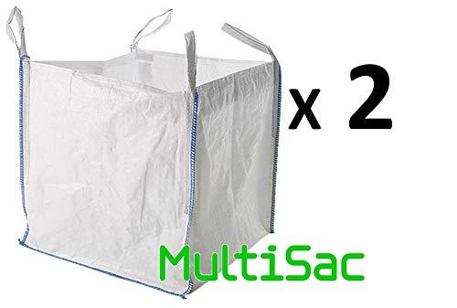 MULTISAC. 2 Big Bags (FIBC) 90x90x90cm 1000 KG. Ideal para g