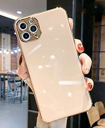 LIUYAWEI Estuches de teléfono electrochapados Brillantes con Diamantes de imitación para iPhone 12 Mini 12 11 Pro MAX XR X XS MAX 7 8 P Funda para Huawei P30 Mate30, Solo Funda Rosa, para iPhone XS