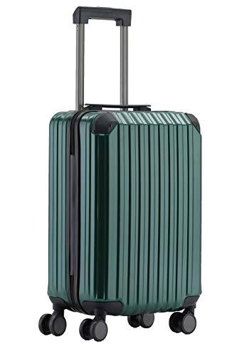 Münicase M816 TSA-Schloß Koffer Reisekoffer Trolley Kofferset Hardschale Boardcase Handgepäck (Dunkelgrün, Kleiner Koffer)