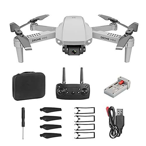 coersd Mini E88 Folding UAV HD Aerial Quadrocopter Long-Endurance Remote Control Aircraft 720P/1080P/30W/4k HD Drones for Adults, Rc 100m WiFi Mobile Phone Control Drone Real-Time Image