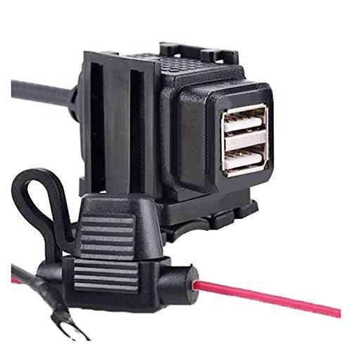 SUNYANG Summer Solstice Cargador de Manillar de Motocicleta DUOS USB USB 12V Adaptador Impermeable Suministro de Corriente Ajuste para teléfono GPS MP4 Motorbike DC 5V 2.1A