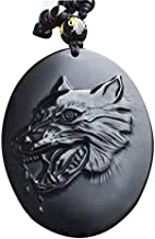 CHENGSH Pendant Men's Necklace Pendant Black Obsidian Wolf Head Wolf' Fang Pendant Amulet Lucky Gift for Men Women Fashion Jewelry