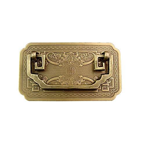Chyuanhua deurkruk Chinese traditionele stijl meubels dikke messing handvat retro vintage geschikt voor lade dressoir kast vintage deurkruk