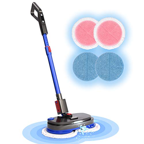 iDOO Electric Mop, Cordless Electric Spin Mop for Floor Cleaning with Built-in 300ml Water Tank, Polisher with Led Headlight and Sprayer, Scrubber for Hardwood Tile Floor, Powerful Cleaner and Waxing