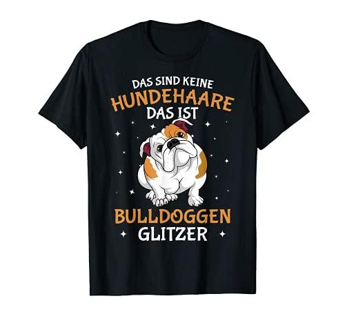 Englische Bulldogge Glitzer Hundehalter Frauchen Hunde T-Shirt