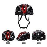 Casco de Bicicleta de Montaña, Casco de Bicicleta para Adultos Casco Ajustable con Visera Extraíble Casco de Bicicleta MTB City Specialized para Bicicleta de Montaña y para Hombres y Mujeres Rojo