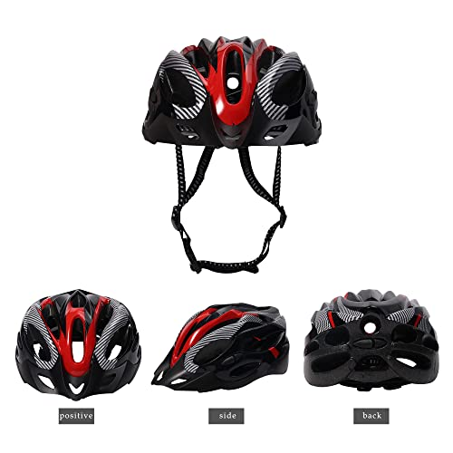 Fahrradhelm, Mountainbike Fahrradhelme Erwachsene Fahrradhelm Verstellbar Radhelm mit Abnehmbarem Visier MTB City Specialized Fahrradhelm EPS-Körper + PC-Schale Fahrradhelm für Männer Frauen (Rot)