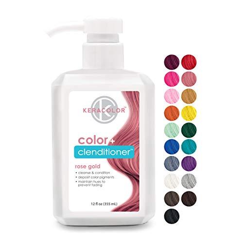 Keracolor Clenditioner Color Depositing Conditioner Colorwash, Rose Gold, 12 fl oz