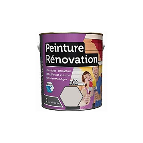 Peinture 2 Litres CENDRE GRIS Spécial rénovation carrelage cuisine radiateur electromenager
