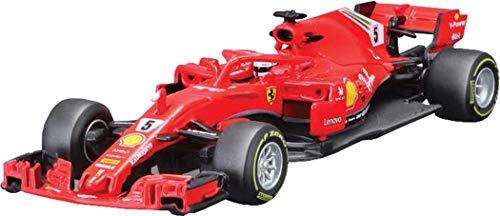 Bburago 15636814V BB 1:43 Ferrari 2019 Formel 1-Fahrzeug mit Fahrer, Mehrfarbig