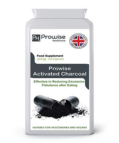 Carbone attivo 300mg 120 capsule - Prodotto nel Regno Unito secondo GMP Qualità garantita - Adatto a vegetariani e vegani da Prowise Healthcare