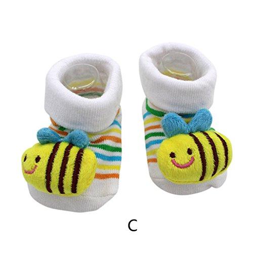 Vovotrade 15 verschillende karikatuur pasgeborenen baby jongen anti-slip sokken toevoer schoen opladingen (C)
