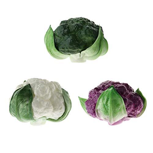Tubayia 3 Stück Künstliche Gemüse Brokkoli Modell Kunstgemüse Deko Gemüse Küche Fotografie Requisiten
