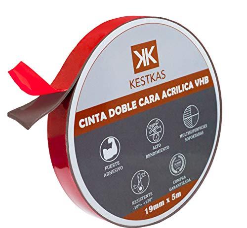 Cinta Adhesiva Doble Cara Extrafuerte 19mm x 5m VHB Multifunción de Alto Rendimiento