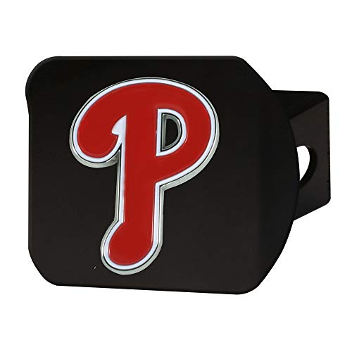 FANMATS 26676 MLB - Philadelphia Phillies Color Hitch Cover - Black