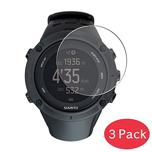 VacFun 3 Piezas Vidrio Templado Protector de Pantalla para Suunto Ambit3 Peak/Ambit 3 Peak, 9H Cristal Screen Protector Alta Definición Película Protectora Reloj Inteligente Smartwatch Pulsera