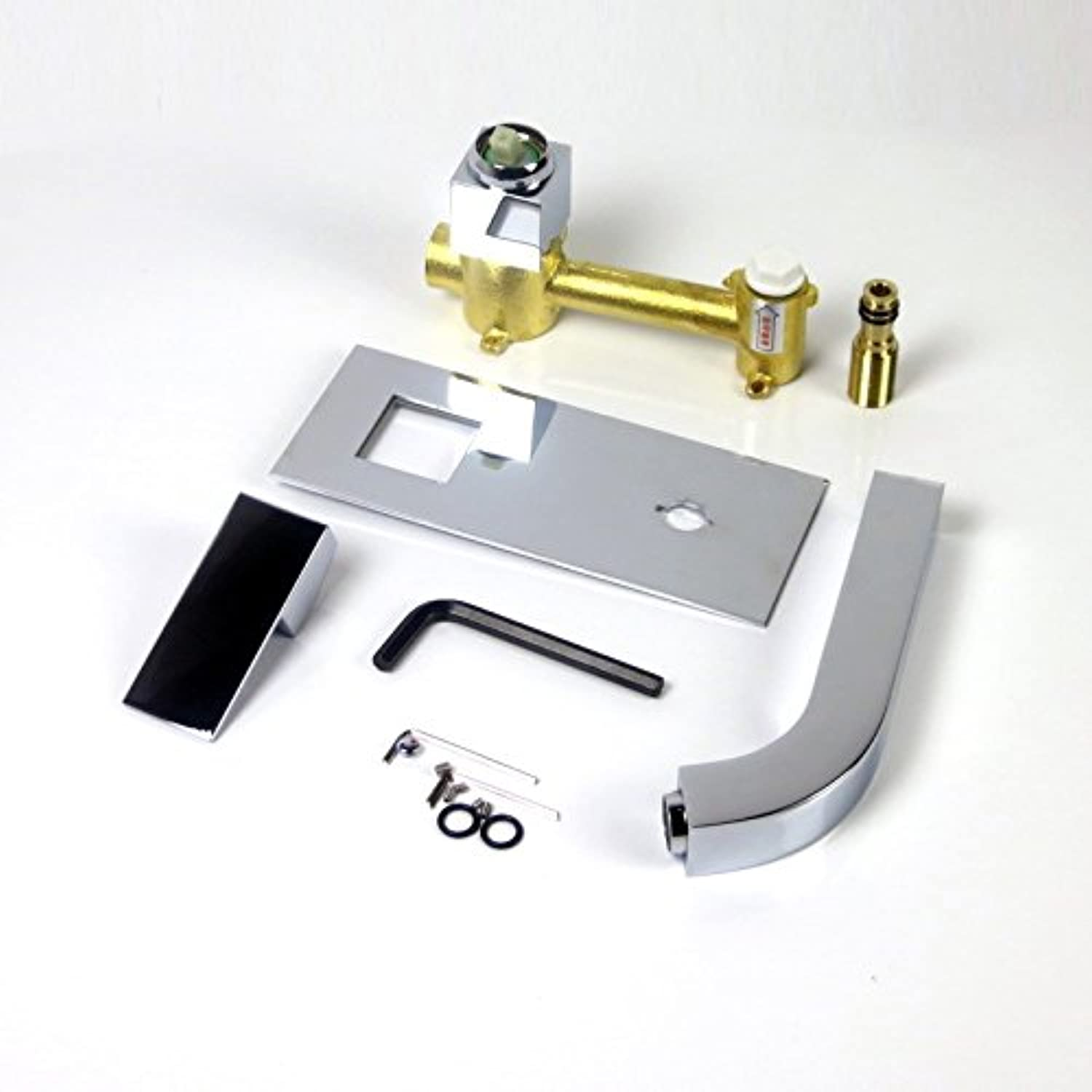 Lalaky Taps Faucet Kitchen Mixer Sink Waterfall Bathroom Mixer Basin Mixer Tap for Kitchen Bathroom and Washroom Wall-Mounted Hot and Cold Concealed