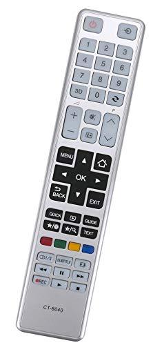 ALLIMITY CT-8040 75038887 Fernbedienung Ersetzen für Thoshiba LED LCD TV 55L5447DG 55L5445DG 48T5445DG 48L5443DG 48L5441DG 48L5435DG 40T5435DG 40L5455R 40L5445DG 40L5443DG 40L5441DG 40L5435DG