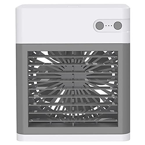 Staright Mini USB Air Cooler Condizionatore d'Aria Portatile Raffreddatore evaporativo Personale Umidificatore con Ventola Piccola con Luce Notturna 3 velocità per casa Camera da Letto