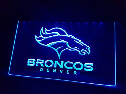 Denver Broncos Leuchtschild LED Neu Schild NFL USA Neon / neonschild