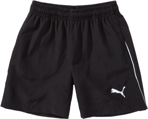 PUMA Kinder Hose Foundation Woven Shorts Präsentationsshorts, Black, 140