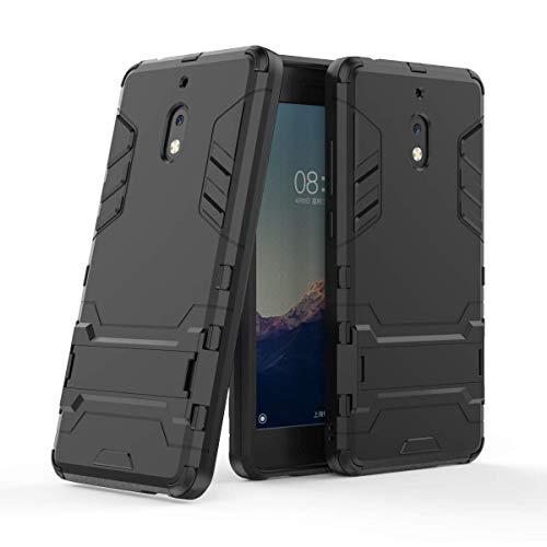 Nokia 2.1 Custodia Cover, FoneExpert® Resistente alle Cadute Armatura dell'impatto Robusta Slim Custodia Kickstand Shockproof Protective Case per Nokia 2.1 / Nokia 2 2018