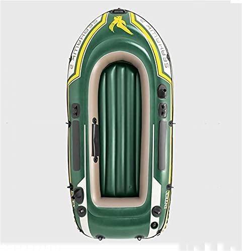 Bote De Goma Kayak Doble Engrosado Seahawk Barco Inflable Cojín De Aire Barco De Pesca Barco De Carga Plegable 2 Personas Deportes Acuáticos