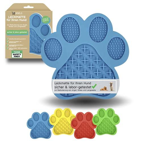 NWLS Leckmatte Hunde Leckmatte für Ihren Hund   Schleckmatte   zur Reduzierung von Angst, Stress und Langeweile   Anti-Schling-Oberflächenstruktur   BPA-frei   abwechslungsreicher Genuss  