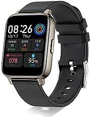 """Smartwatch, 1,69"""" Full Touch Orologio Fitness Uomo Donna Impermeabile IP68 Smart Watch Cardiofrequenzimetro da Polso, Fitness Tracker Controllo Musica Notifiche Messaggi Contapassi Cronometro Nero"""