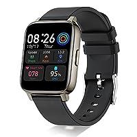 1.69 Zoll TFT-Farbdisplay: Diese Donerton Smartwatch für Damen und Herren ist mit einem 1.69 Zoll großem Touch-Display ausgestattet, komplette touchscreen oberfläche für ein reibungsloses nutzungserlebnis, starkes und langlebiges 2.5D Glas mit dem Si...