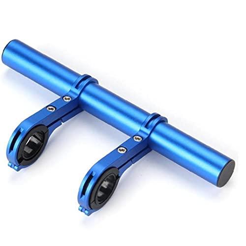 自転車のハンドルバーエクステンダー六角レンチで20 Cmの多機能ダブルハンドルアルミ合金ブラケットエクステンダー懐中電灯スピードメーターgps電話マウントブラケットを固定します
