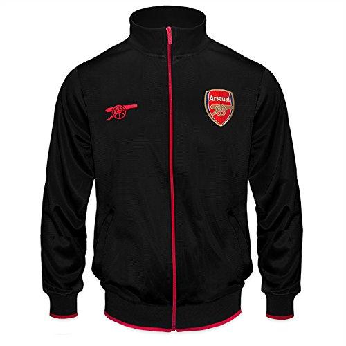Arsenal FC, offizielle Fußball-Trainingsjacke für Jungen, Retro-Stil, schönes Geschenk 9 Jahre schwarz