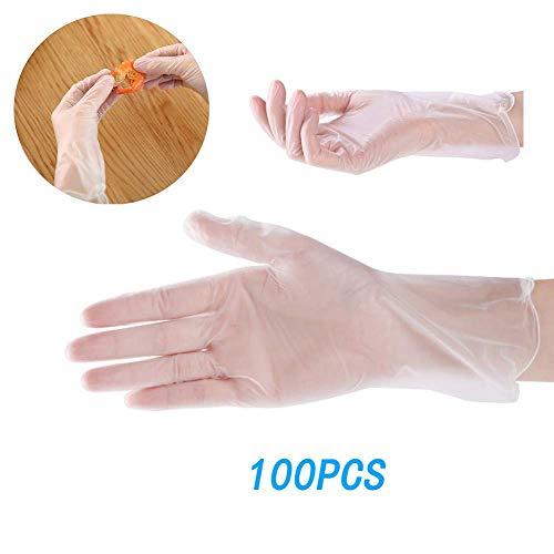 Plastic Handschoenen Wegwerp 100St Comfy Pakket Clear PVC Dust-Proof Poedervrije Vinyl Handschoenen Food Safe Latex Gratis Niet-Steriel,M