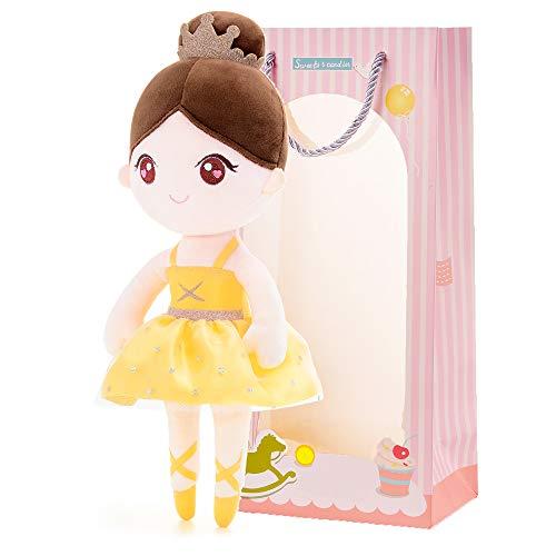 Gloveleya Puppen Babypuppen Weiche Stoffpuppe Puppe Geschenke für mädchen Alter 0+ Gelbes Ballett