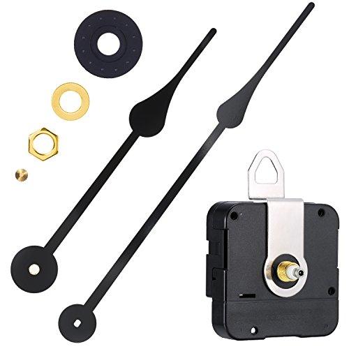 WILLBOND Mouvement de l'horloge à Couple Élevé Mécanisme de Remplacement avec Aiguilles de l'horloge pour Ajustement des Cadrans Jusqu'à 56 cm/ 22 Pouces de Diamètre