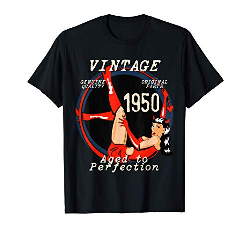 1950 She-Devil 71th Birthday Gift Vintage Style Distressed T-Shirt